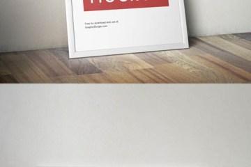 cuadro mock up piso pared - Mock Up de Cuadro Apoyado sobre Piso y Pared en PSD