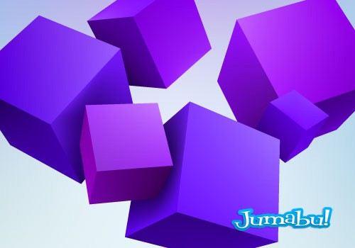 cubos-violetas-vectoriales
