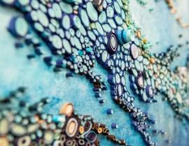 decoracion con papeles - Conoce un océano con papelitos enrollados