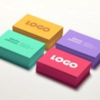 Diseños coloridos de tarjetas personales modernas