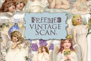 dibujos de angeles vintage - Ilustraciones de ángeles antiguos para descargar