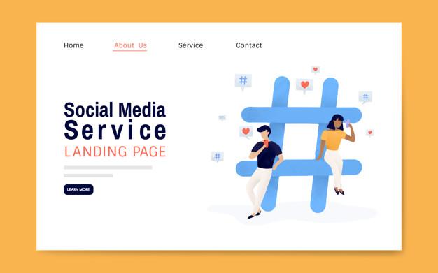 diseno de landing page servicio social media 02 - Diseño de Landing Page para Social Media