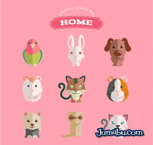 domesticos-animales-plano-vectoriales