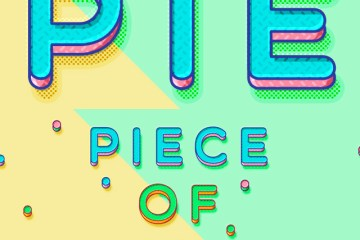 efecto texto photoshop candy lineal - Efecto para Textos con Photoshop