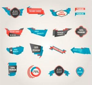 elementos de promocion vectoriales - Logos para Promociones y Descuentos!