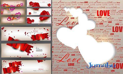 enamorados backgrounds - Backgrounds vectorizados