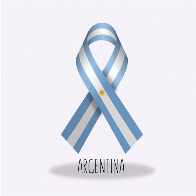 Escarapela Argentina de lazo en vectores
