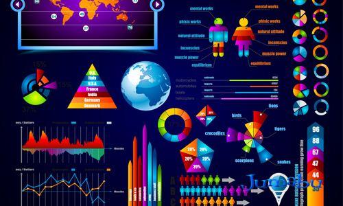 estadisticas graficos infografias coloridas - Estadísticas - Infografías de Colores