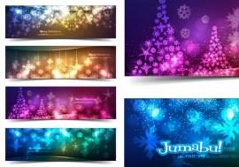 estrellas navidad vectorizadas 11 - Estrellas Navideñas con Efecto Glow o Brillo