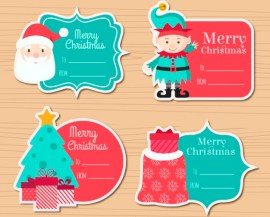 etiquetas navidenas para ninos - Etiquetas Navideñas para Recortar y Pegar