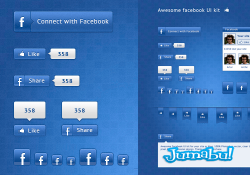 facebook ui elements2 - Elementos Facebook en PSD para Editar