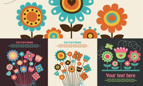 flores-coloridas-vectores