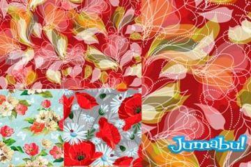 fondos florales backgrounds florales - Fondo Coloridos con Flores en Vectores