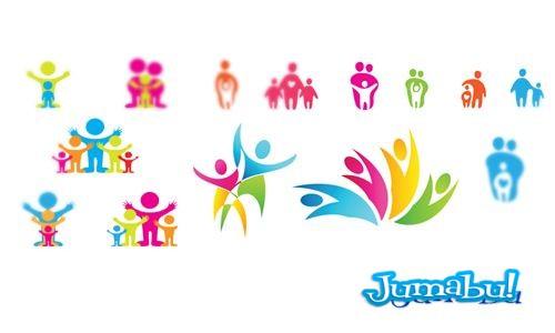 fundacion ong icons - Vectores de Familia