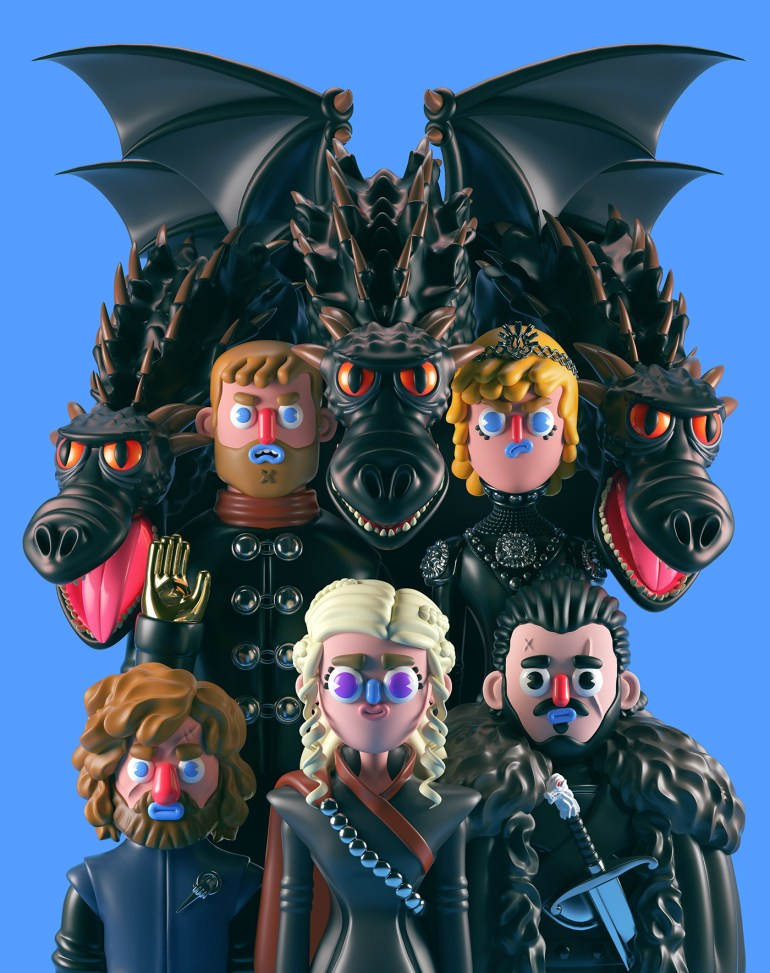 games of thrones comic art 810x1024 - Conoce los personajes de Games of Thrones en 3D (Fan Art)