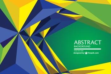 geometrico fondo abstracto mundial brasil - Background Verde y Amarillo Brasil 2014