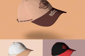 gorra mockup - MockUps de gorras deportivas bordadas e impresas