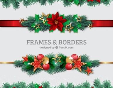 guirnaldas navideñas - Guirnaldas Navideñas para Descargar en Vectores Gratis