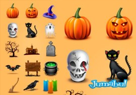 halloween icons featured - Iconos para Halloween en PNG