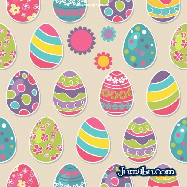 huevos-de-pascua-patron-motivos-diferentes