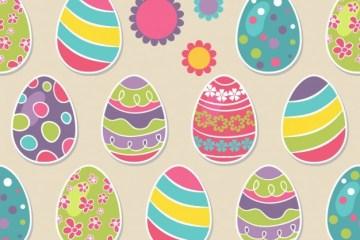 huevos de pascua patron motivos diferentes - Huevos de Pascuas Coloridos en Vectores