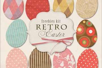 huevos de pascuas imagenes - Pack de Imágenes de Huevos de Pascuas Retro