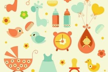 iconos de bebe vectores - Iconos en Vectores para Bebes