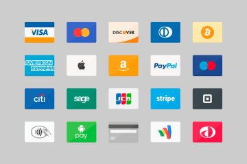 iconos de tarjetas de credito psd - Iconos de tarjetas de crédito en PSD