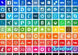 iconos flat social media planos - 90 Iconos Sociales con Estilo Flat o Plano!