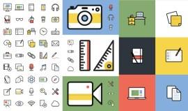 iconos lineales de oficina - Iconos Lineales en Vectores para Descargar Gratis