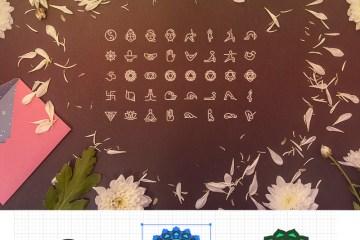 iconos para yoga - 40 iconos en vectores sobre yoga