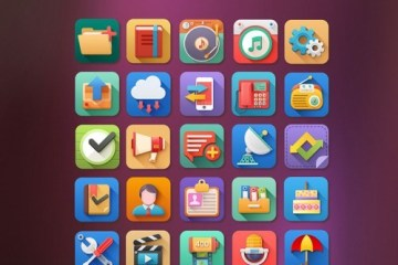 iconos planos psd - Iconos Planos en PSD Elementos Multimedia