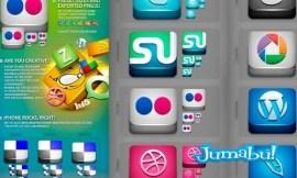 iconos sociales coloridos - Iconos de Redes Sociales en 3D