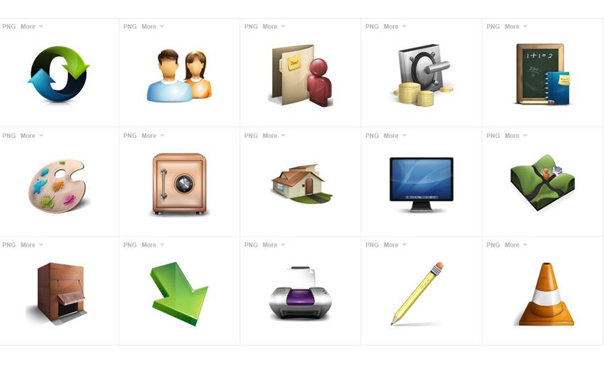 Descarga Iconos  en PNG con Fondo Transparente
