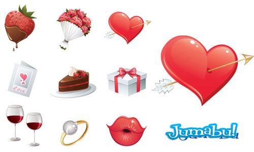 enamorados-vectorizados-corazon-beso-regalo-flores
