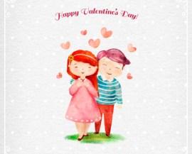 imagenes dia de enamorados - Dibujo para San Valentín con efecto acuarelas