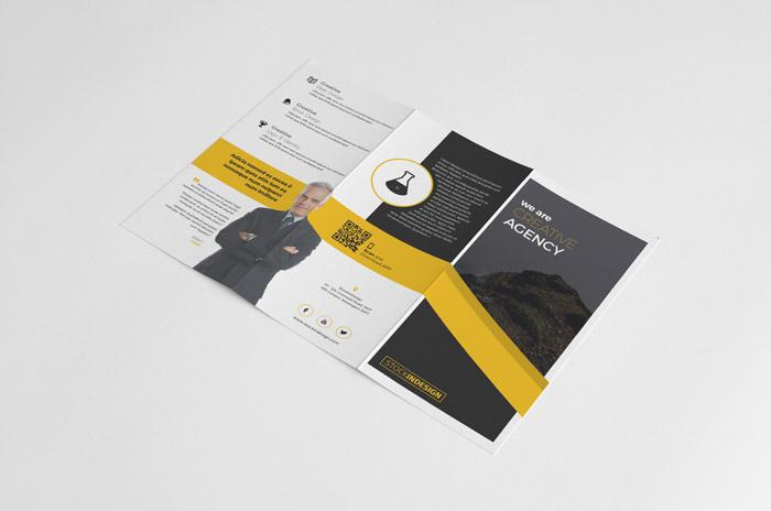 Descarga Gratis un folleto tríptico InDesign | Jumabu