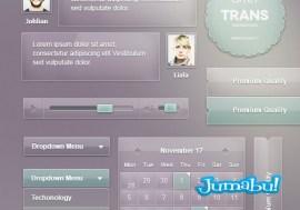 interfaz usuario transparente efecto psd - Interface de Página Web con Efecto Transparente o Vidrioso