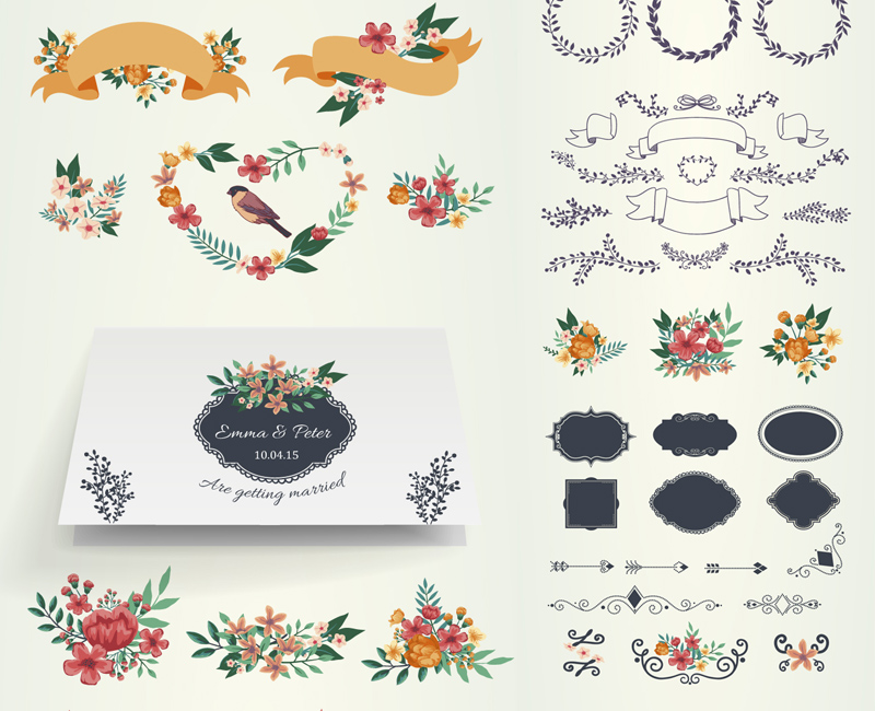 invitaciones-bodas-vectores