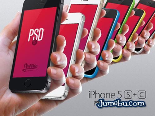 iphone mano plantilla - Mock Up de Iphone en Mano para Photoshop