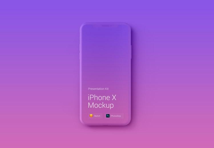 iphone x mauqeta 1024x709 - iPhone X Mockups en PSD para descargar