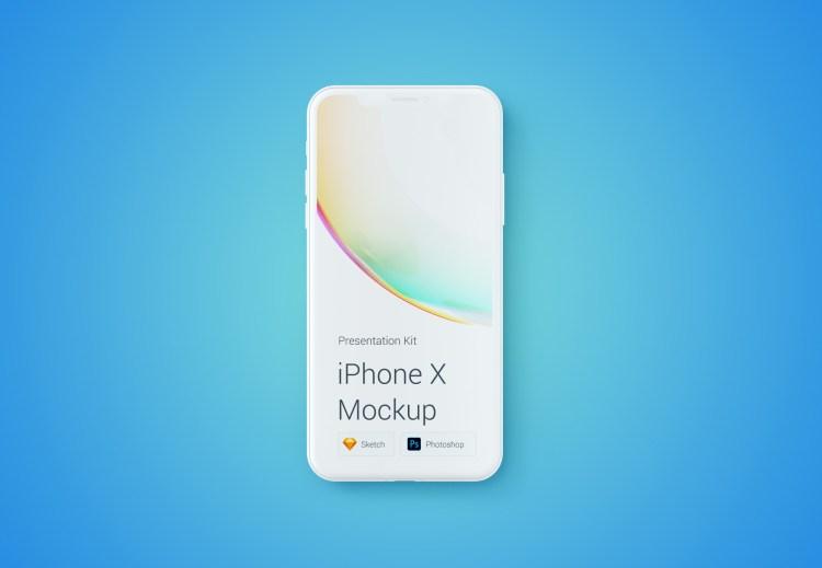 iphone x template 1024x709 - iPhone X Mockups en PSD para descargar