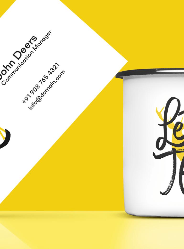 jarra de cafe mockup plantilla - Jarra de café y plantilla de tarjeta personal para cambiar tus datos