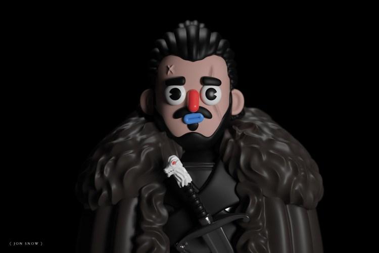 jon snow 3d 1024x683 - Conoce los personajes de Games of Thrones en 3D (Fan Art)