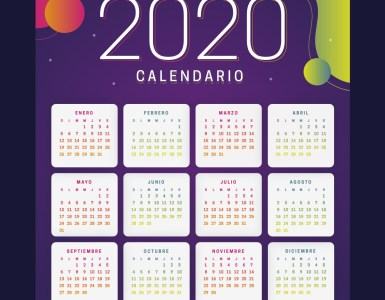 jumabu com calendario 2020 colorido - Calendario 2020 en español para imprimir