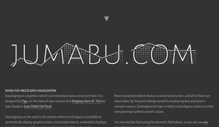 jumabu datalegreya - Descarga esta tipografía ideal para gráficos estadísticos