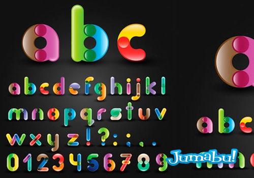 Letras del Alfabeto Redondeadas con Detalles Circulares | Jumabu