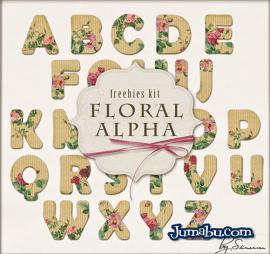 letras cartoon florales - Letras Recortadas de Cartón con Flores en formatos PNG