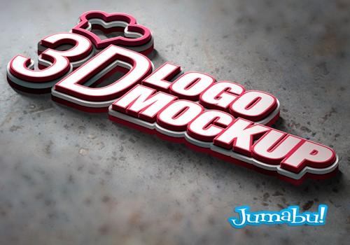 logo 3d photoshop mockup - Como Hacer mi Logo en 3D con Photoshop?