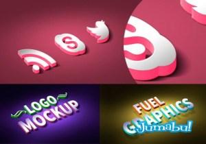 logos 3d photoshop - Crear un Logo en 3D con Photoshop
